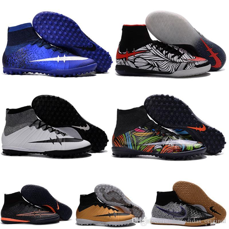 Children new elastico superfly cr7 tf indoor soccer shoes ic turf