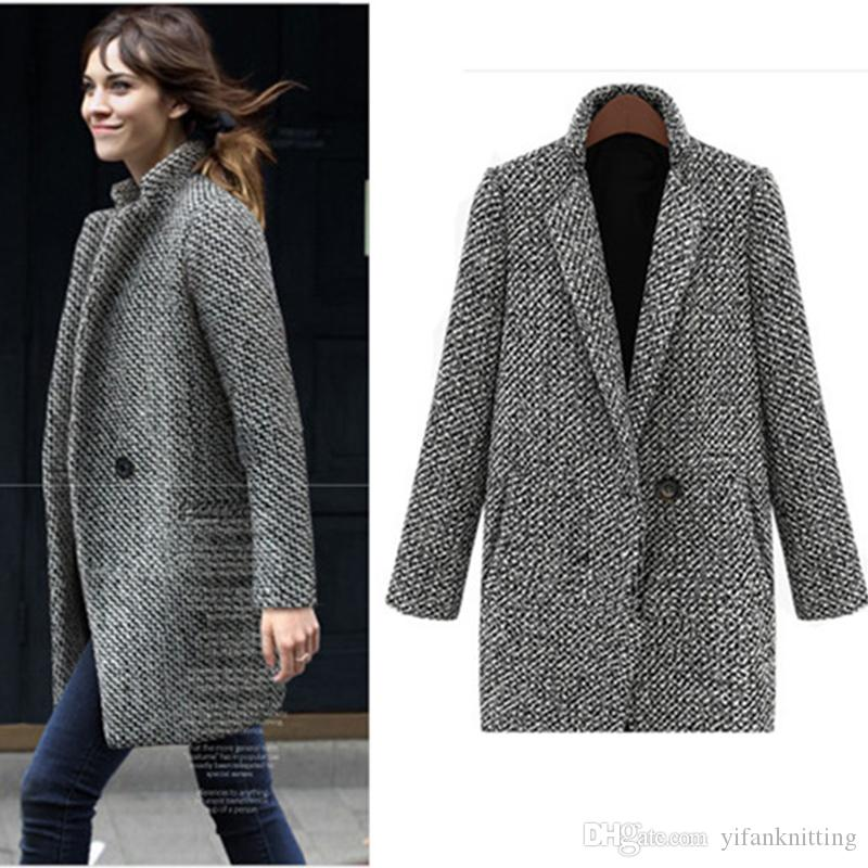 Women Winter Coats Europe Style New High-grade Wool Blends ...