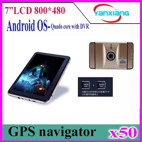 Pcs  Inch Android Gps Navigation Car Dvr Camera Recorder Truck Vehicle Gps Navi Tablet Pc