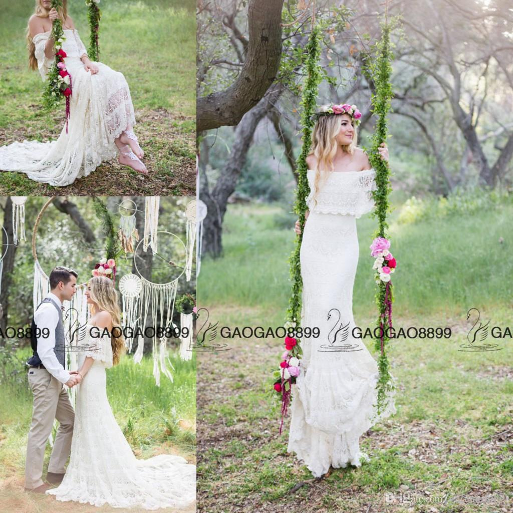 Discount vintage inspired hippie greece bohemian forest for Forest wedding dress vintage