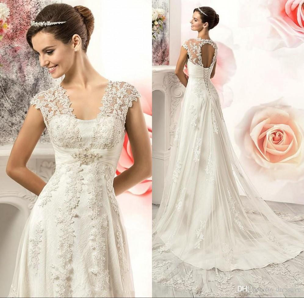 Country Vintage Wedding Dresses: Discount 2017 Vintage Lace Country Wedding Dresses Gowns