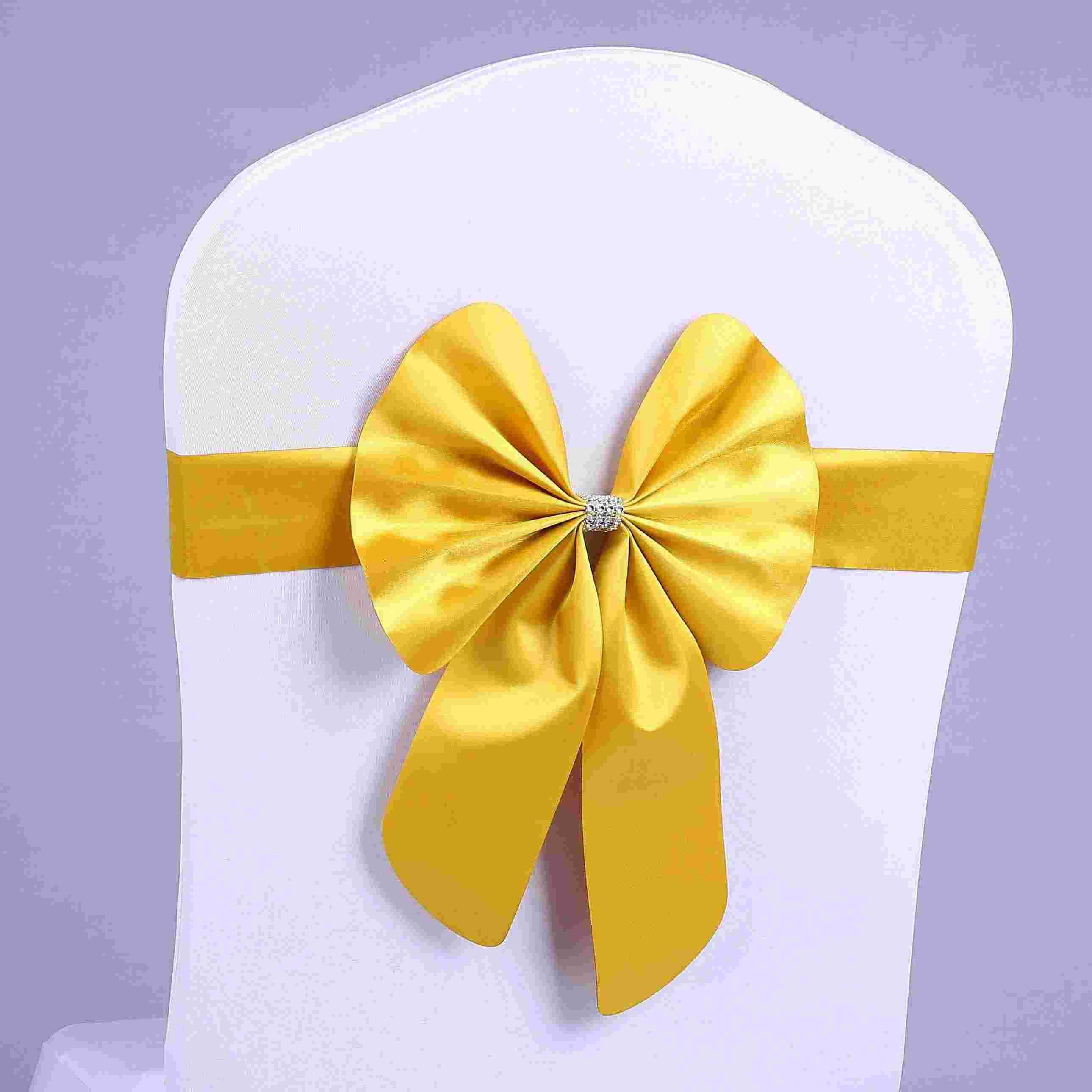 Chair Cover Bows stretch bowknots chair sashes for wedding chairs back decorations