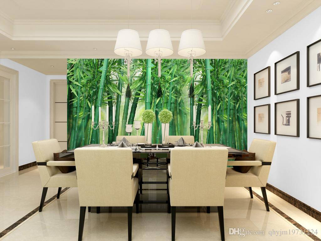 Scenery Wallpaper For Bedroom Plant Trees Green Lawn Modern Large Scale Non Woven Natural