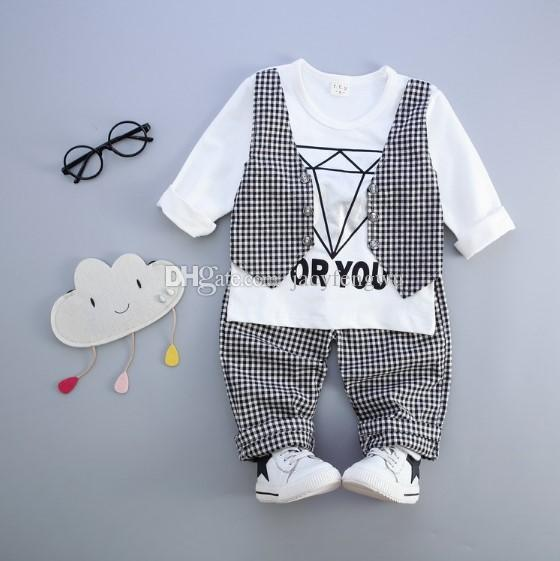 Baby Boy Clothes Tees Fake Suits Outfits Design