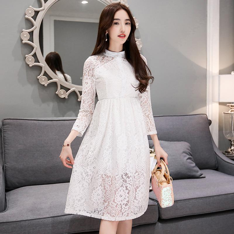 New 2016 Summer Fashion Hollow Out Elegant White Lace Elegant ...