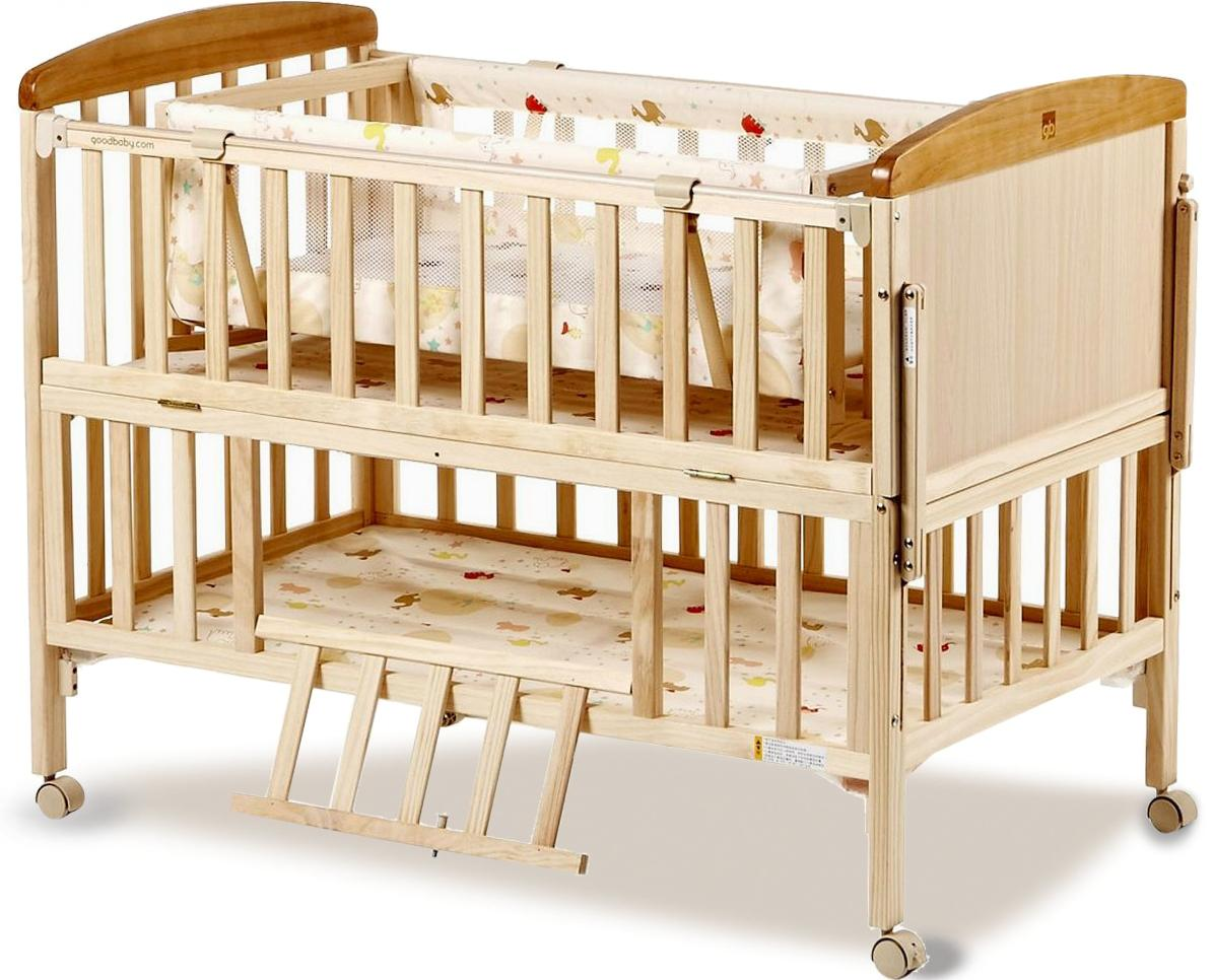 Wooden crib for babies - Wood Crib Lacquerless Baby Bed Bb Multifunctional Child Bed Pine Cradle Bed Nets Non