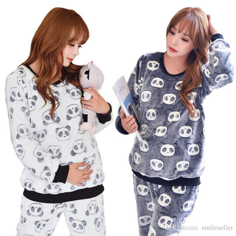 flannel maternity pajamas