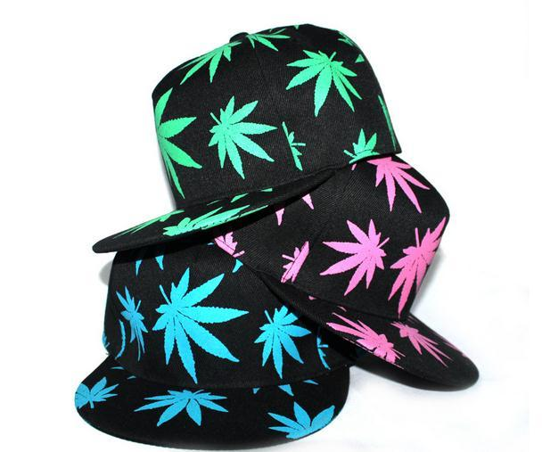 NOUVEAU Fashion Summer Snapback Caps Embroidery Printing Maple Leaf Baseball Cap