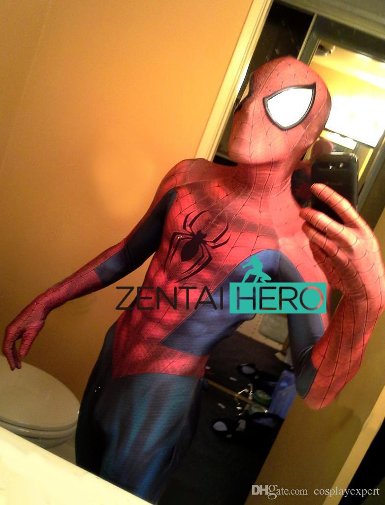 DHL 2017 Adult Newest Spiderman Costume 3D Printing Spider-man ...