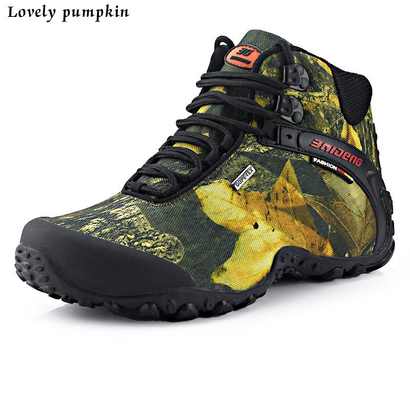2016 Fashion Outdoor Climbing Hiking Boots Men Boot Proof New ...