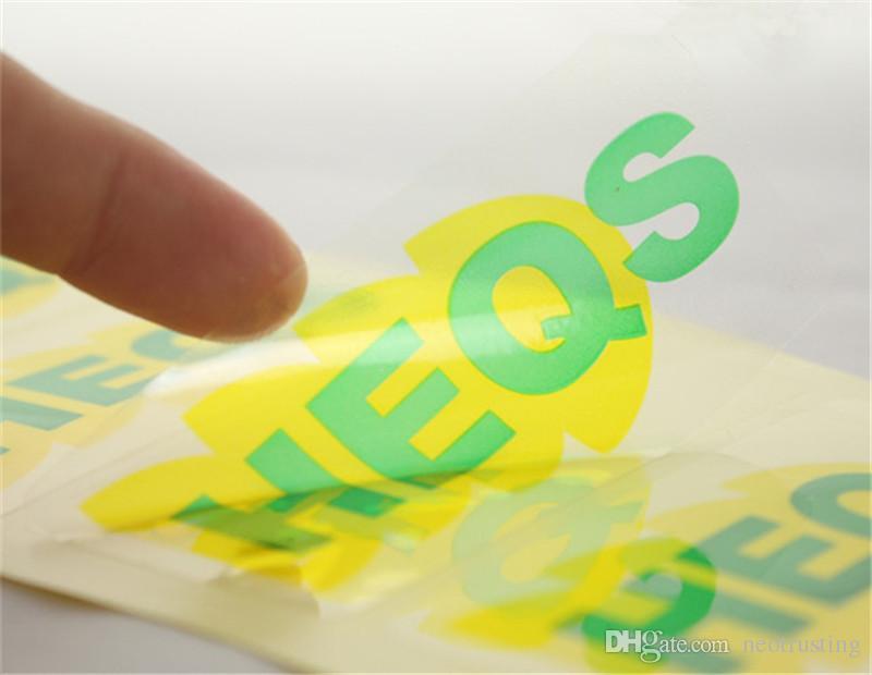 Customized Clear PVC Glossy Finish Adhesive Vinyl Stickers - Custom vinyl stickers transparent
