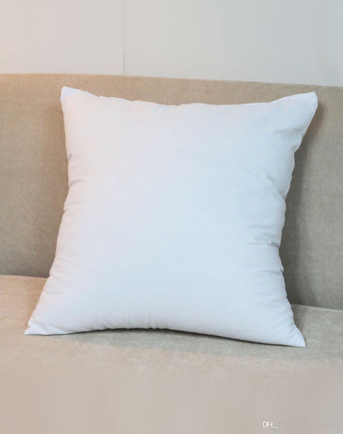 Blank Decorative Pillow Covers : Plain White Color 250gsm Cotton Canvas Cushion Cover With Hidden Zip For Custom/Diy Print Blank ...