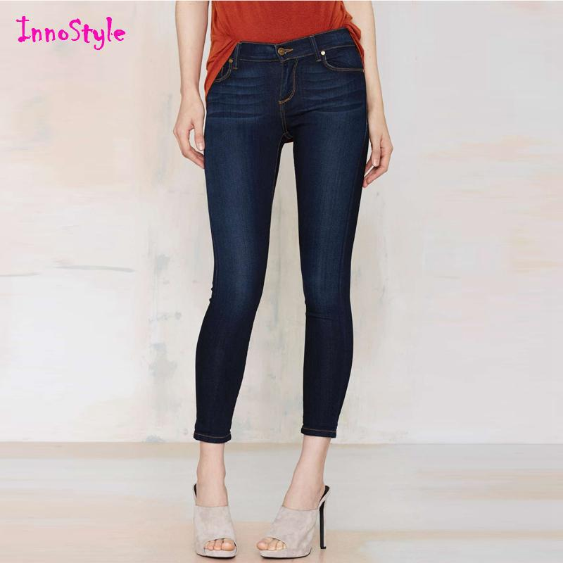 2017 Denim Cropped Pants For Womens Slim Fit Capri Pants For ...