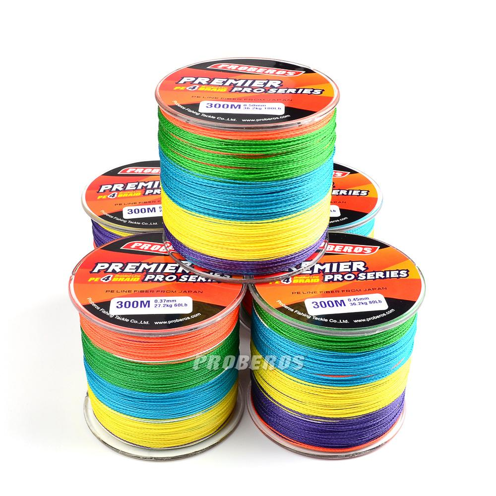 500m braided wire super fishing lines multicolour pe for Best saltwater fishing line color