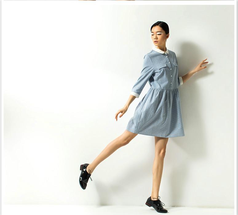 New Women Dress Dew Navel Simple Japanese Style Fresh Long Style Spring Summer Fashion Seaside
