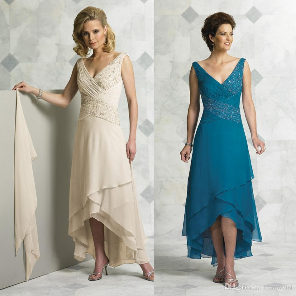Hi lo cheap mother of the bride dresses for wedding plus for Hi lo dress wedding guest