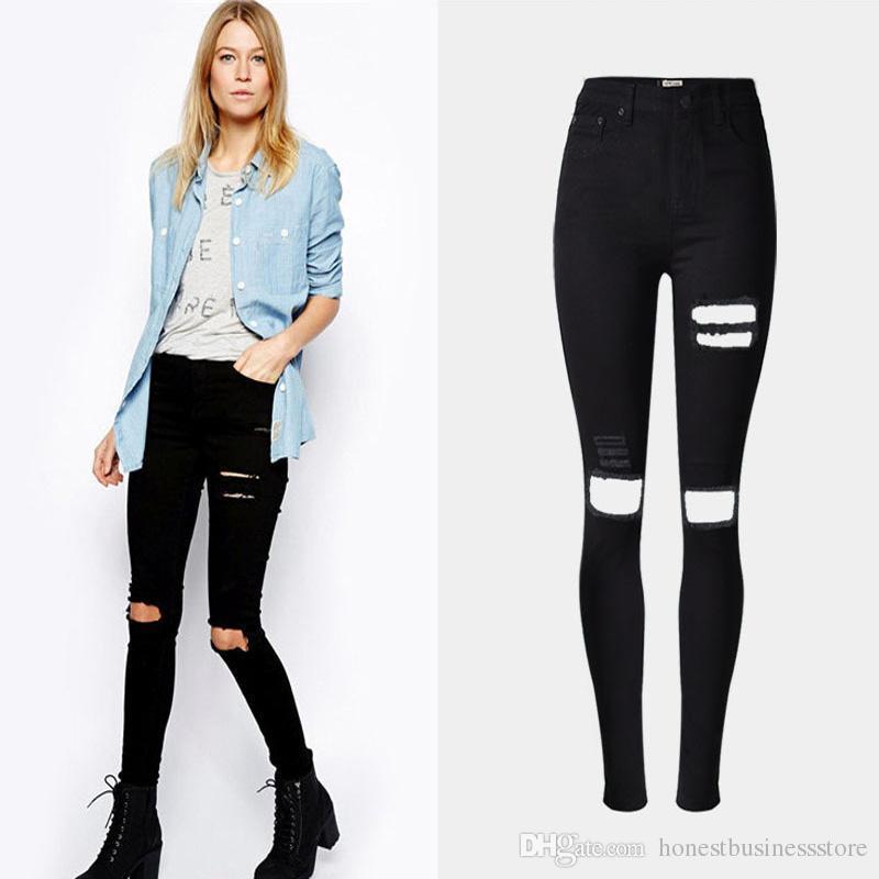 Best Skinny Boyfriend Jeans Style For Women Torn Destroyed Ripped ...