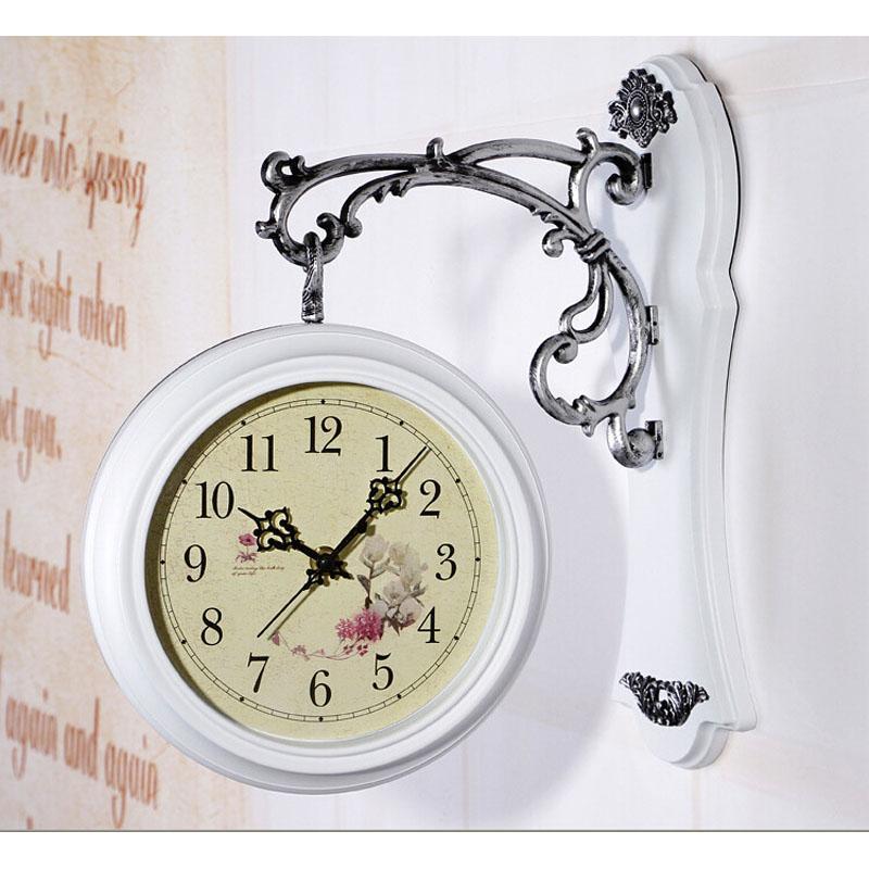 vintage doublesided wall clock saat relogio de parede decoracion watch large digita reloj de pared wall clocks duvar saati klok online with 14846piece