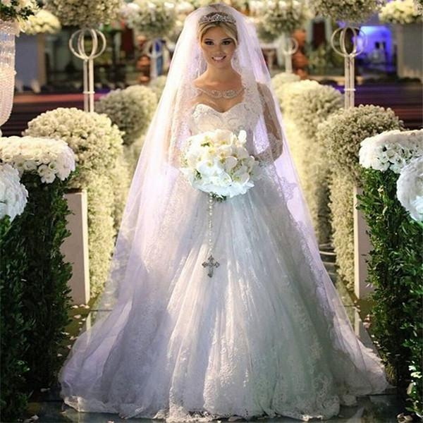 Discount bling bling lace a line princess wedding dresses for Bling princess wedding dresses