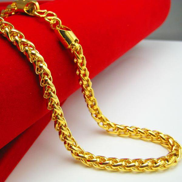 Wholesale 10 years do not fade gold necklace men women for Jh jewelry guarantee 2 years