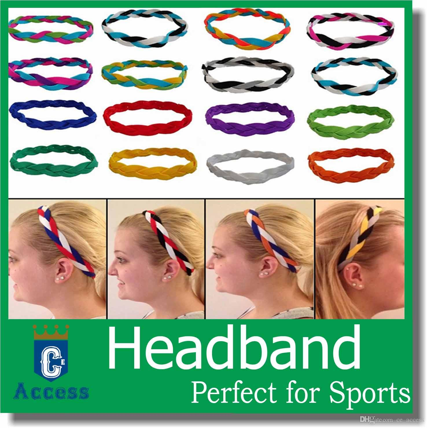 baseball softball sports headbands set elastic nylon for girls braided mini non slip hairbands stay in place keep your focused