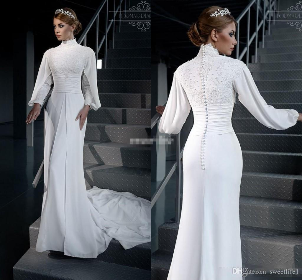 Discount new designer modest muslim wedding dresses long for Cheap muslim wedding dresses