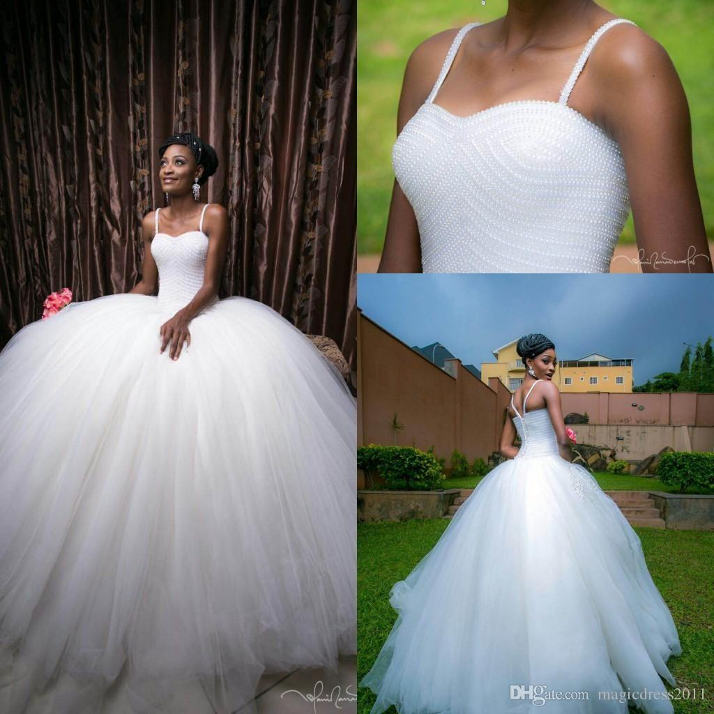 2016 Princess Ball Gown Wedding Dresses Full Hand Beading