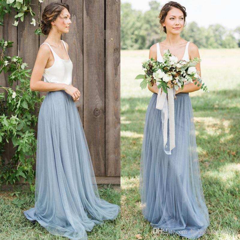 Hot cheap bridesmaid dresses tulle skirt prom dresses for Tulle skirt under wedding dress