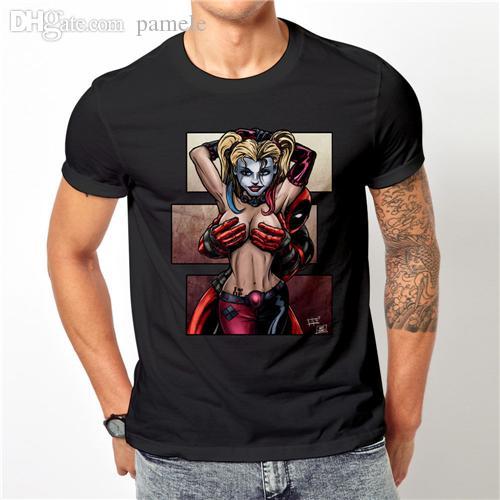 Wholesale Deadpool Love Harley Quinn Whisky T Shirt Chimi