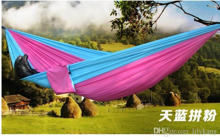 2016 Top Selling Outdoor Portable Camping Double Hammock Outdoor Furniture  General Use Parachute Hammock Portable Swing Bed Camping Double Hammock  Outdoor ...