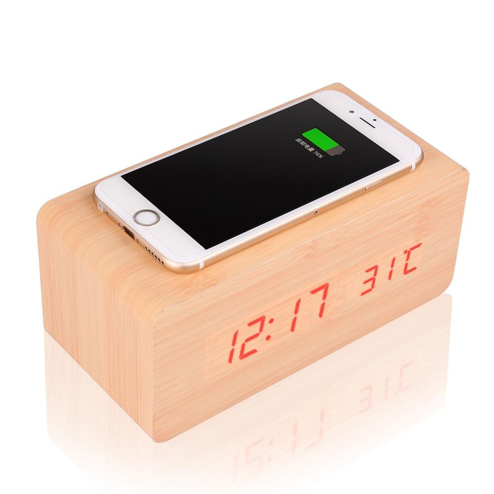 Modern Wooden Cube Digital Led