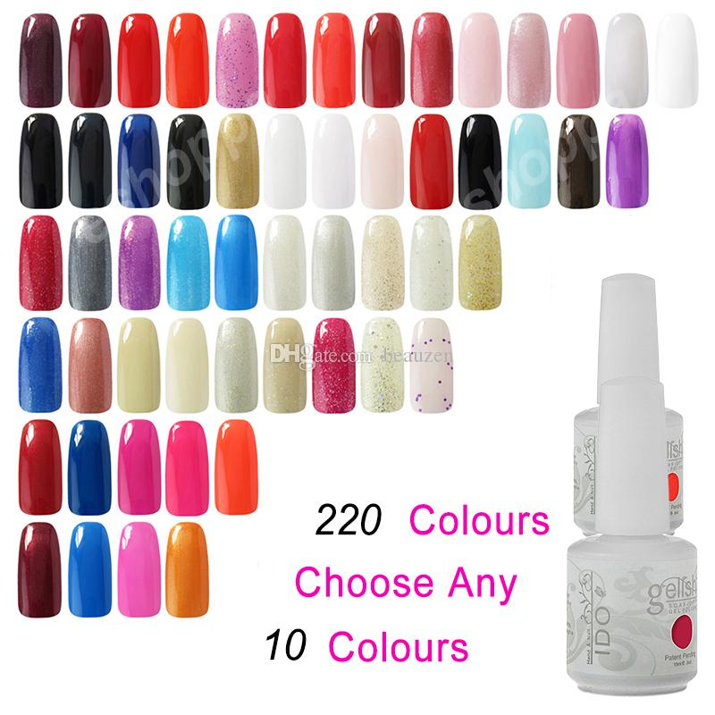 Gel Vernis à ongles Soak Off IDO Gelish 299 couleurs Nail Art UV LED Gel Polyest