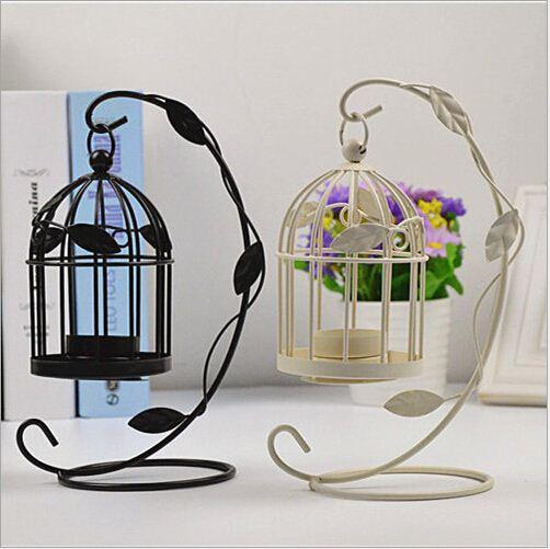 Wholesale Decorative Vintage Home Decor Candle Holders Candelabro Bird Cages Candlesticks Decorative For Home Decoration