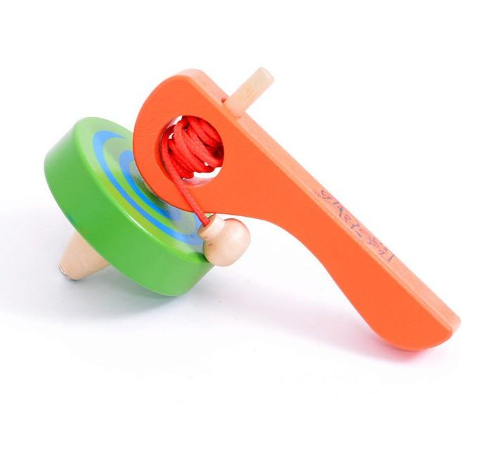 Best Pull Toys For Kids : Pull line spinning top baby toy children s wooden toys
