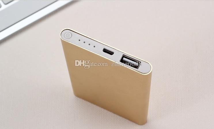 LUMINIUM alliage 2600mAh mobile Power Bank Cell Phone Banques électriques Packag