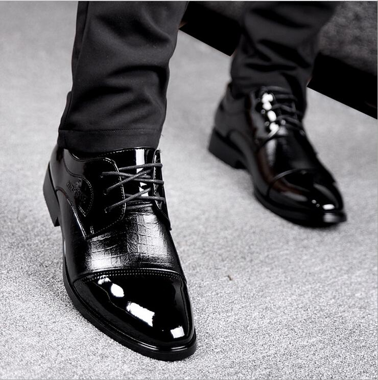 Fashion Men'S Business Shoes Leather Mens Wedding Shoes Big Size ...