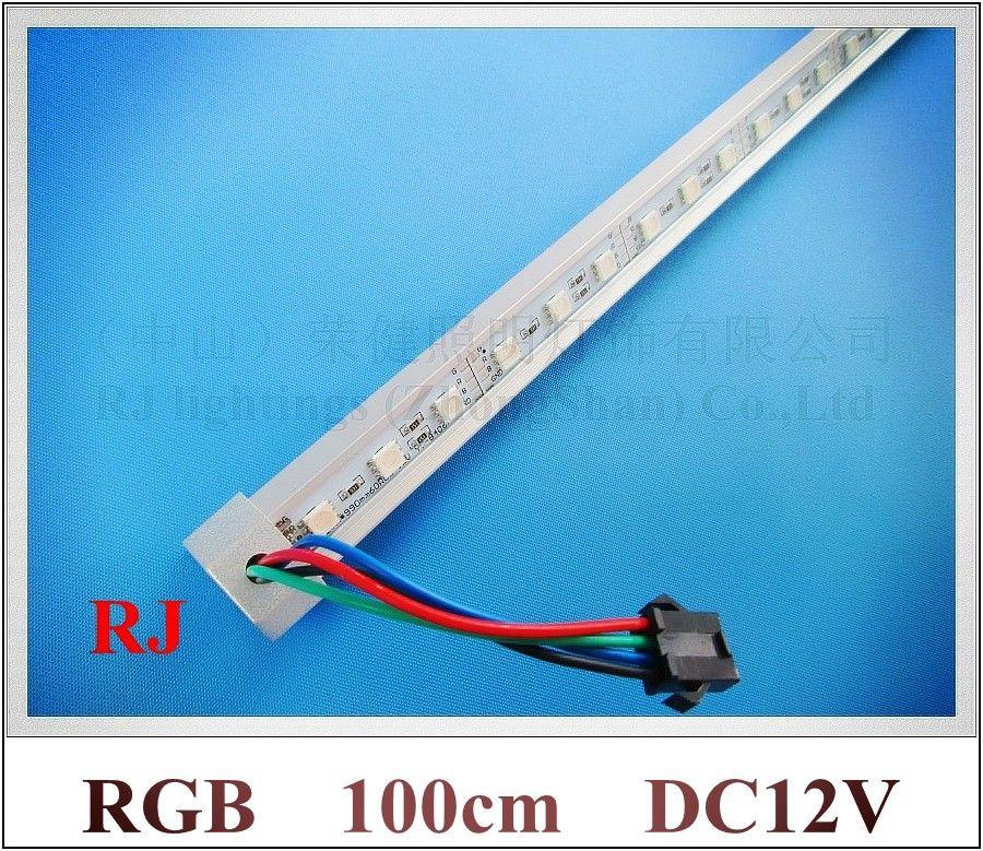 SMD 5050 RGB LED Rigid Strip RGB LED Light Bar Cabinet Light Counter  Jewelry Light 100cm 60 Led 100cm Rgb Led Light Bar 5050 Led Light Bar Led  Rigid Strip ...