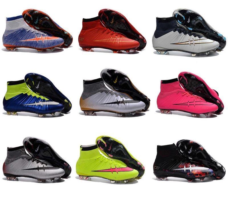 2017 2016 Kids Soccer Shoes Children Football Boot High Top Soccer ...
