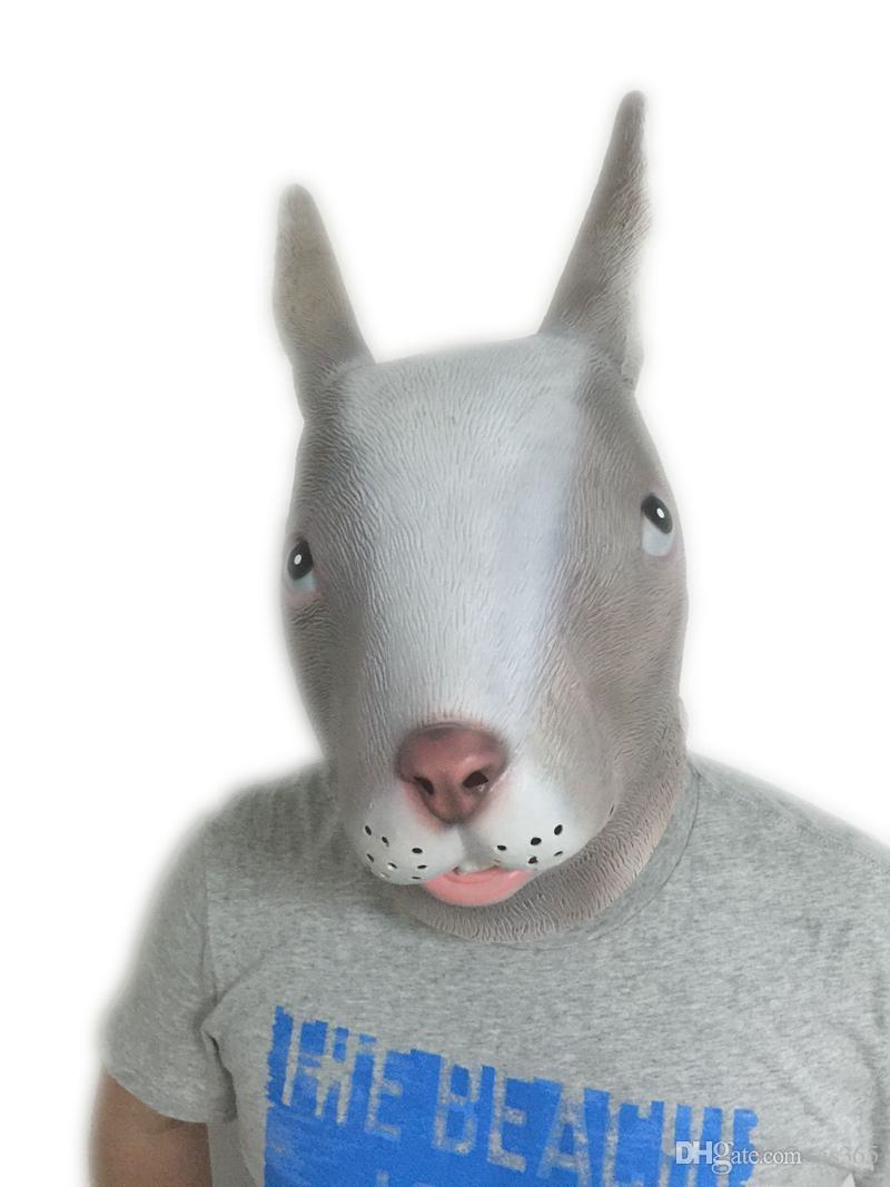 Cute Gray Rabbit Mask Bunny Head Latex Masks Halloween Cosplay ...