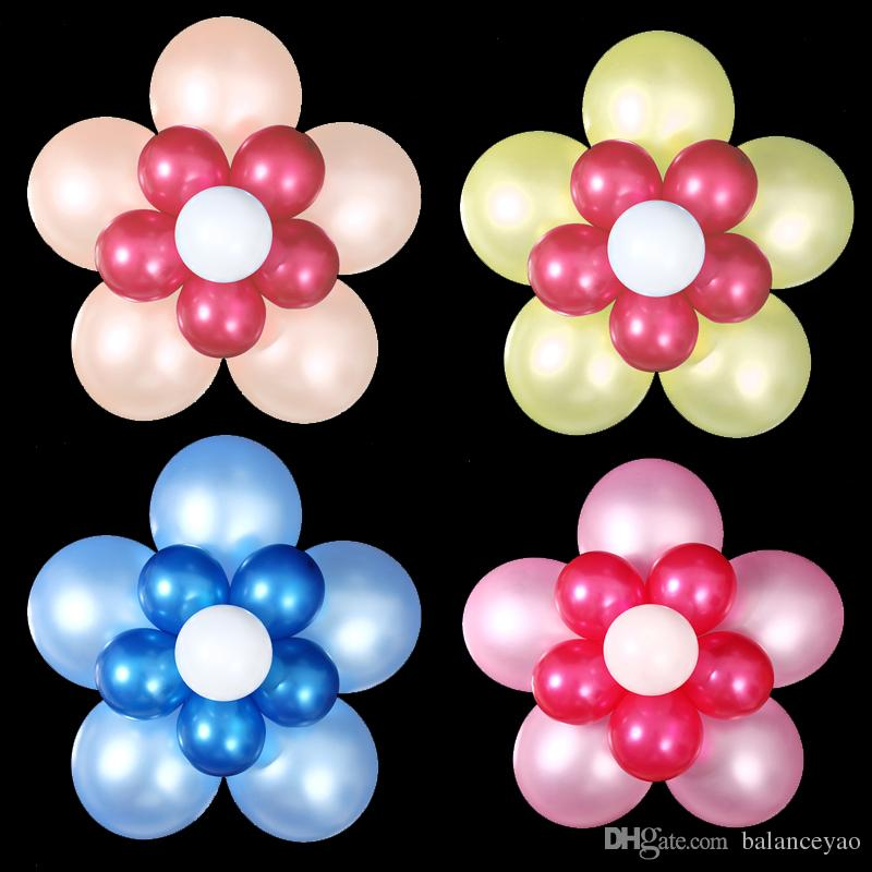 Flower shape balloons custom assembling balloon decoration for Bed decoration with flowers and balloons