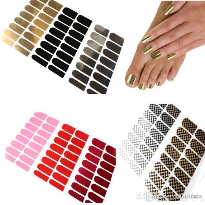 Nail stickers Nail art modèle de 18 Designs Nail décalcomanies 16pcs / set Outil