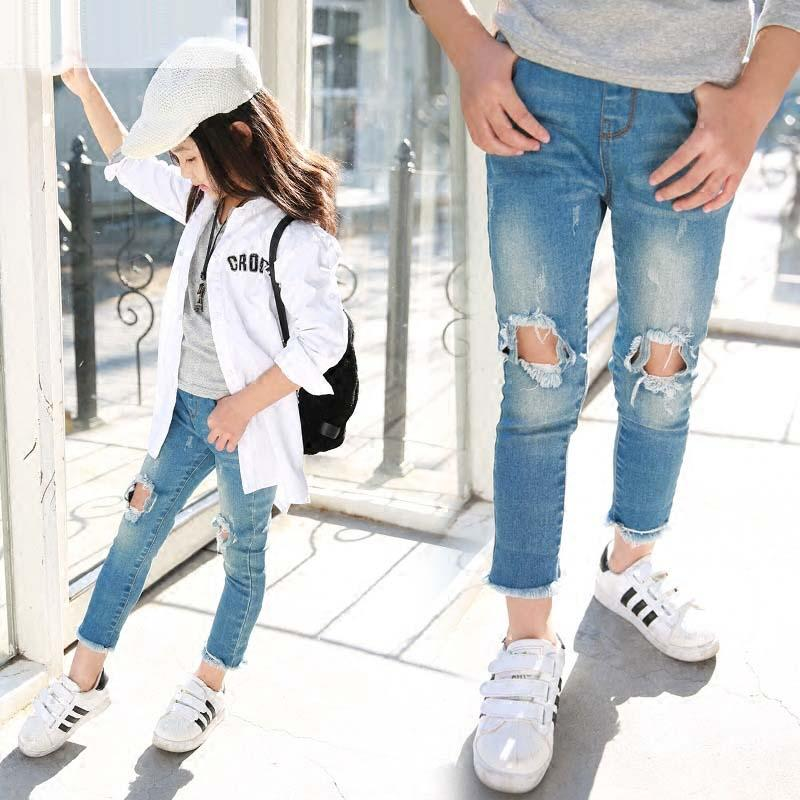 Cheap Kids Skinny Ripped Jeans | Free Shipping Kids Skinny Ripped ...