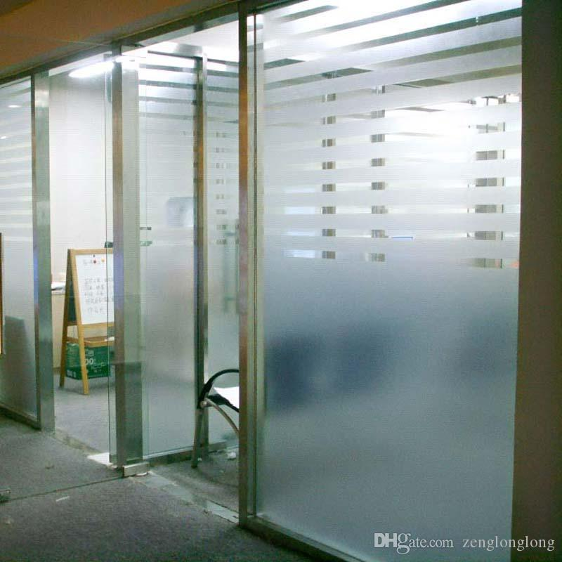 40cm Width Light Through Frosted Films Bathroom Office
