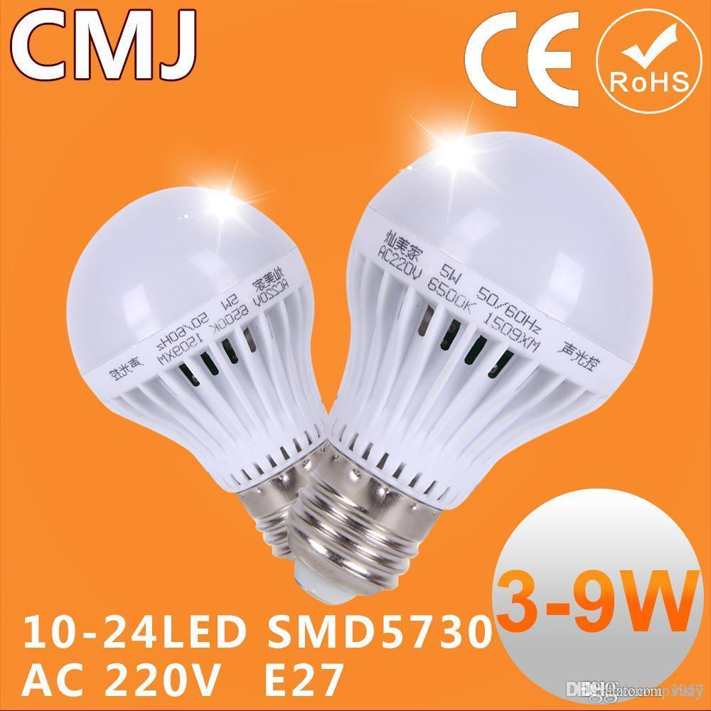 Lamp With E27 Motion Sensor SoundLight Bulb Led Motion Sensor