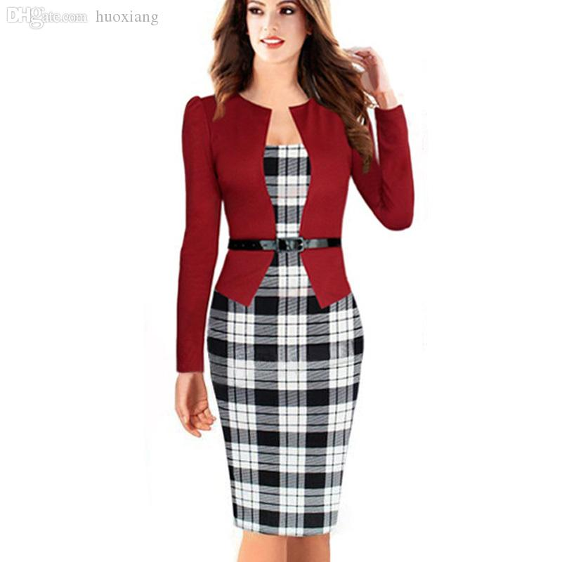 Wholesale-Womens Elegant Business Suits Blazer with Skirts Formal ...