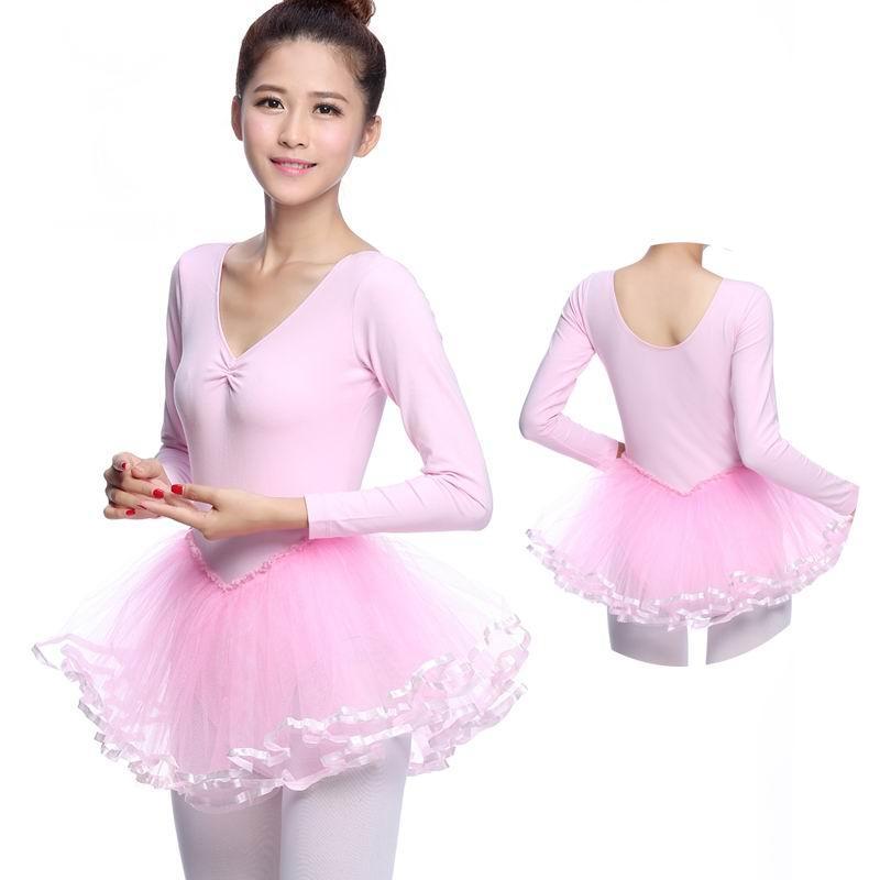 2017 Long Sleeve Adults Ballet Dance Leotard Dress For ...