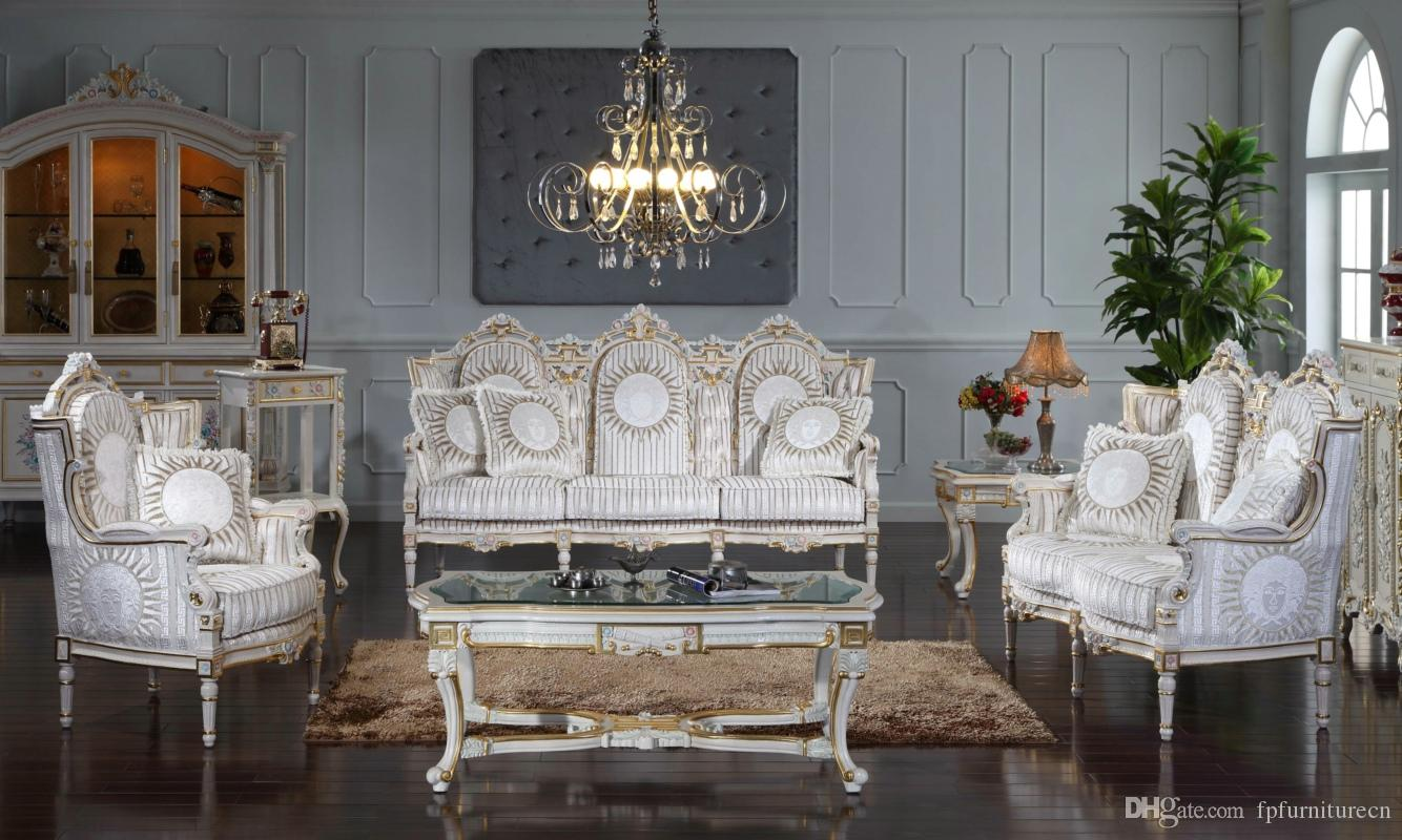 2017 Antique Baroque Furniture Rococo Style Classic Living Room