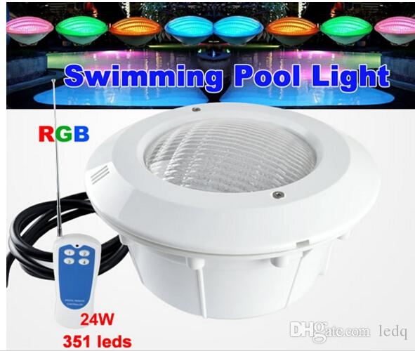 Ac 12v Led Swimming Pool Light Rgb 24w Par56 With Cover Waterproof Ip68 Exterior Interior