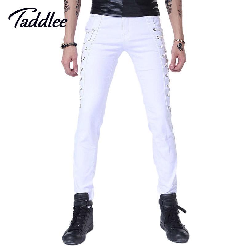 Jeans Pants Pantalons Skinny Long Punk Hommes Hop Slim Hip Cher Pas  8wxE1pqYF 03ab6d4892c