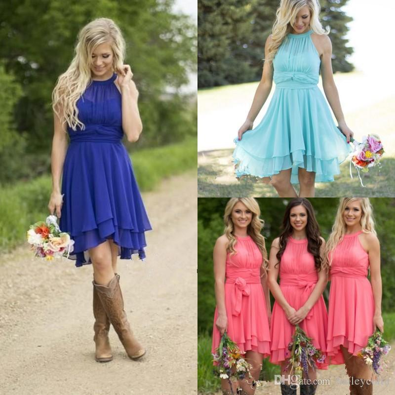 Cheap country bridesmaid dresses short 2016 plus size for Plus size country western wedding dresses